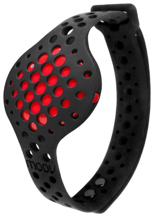 Фитнес-браслет Moov Now, черный/красный Now Fusion Red
