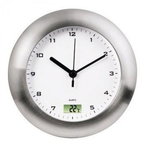 Часы интерьерные HAMA Bathroom H-113914, серебристые