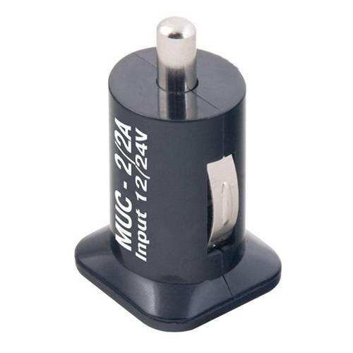 Зарядное устройство Mystery MUC-2 3A (автомобильное) черное MUC-2/3A