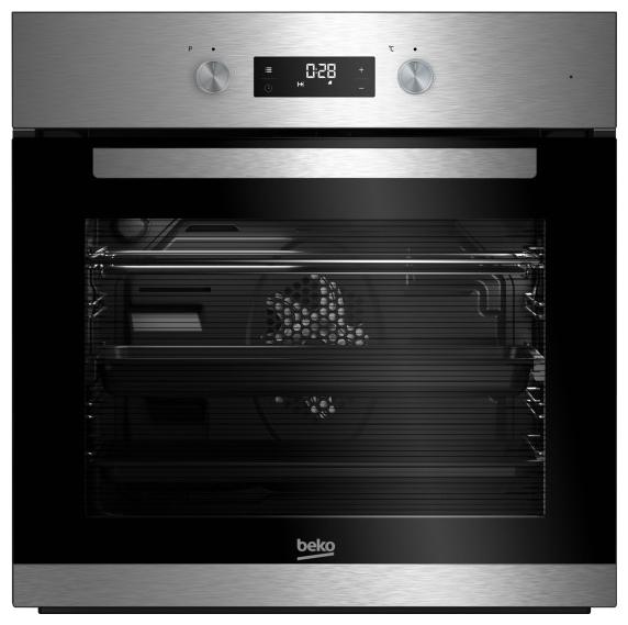 Духовой шкаф BEKO BIM 22304 XCS, серебристо-черный