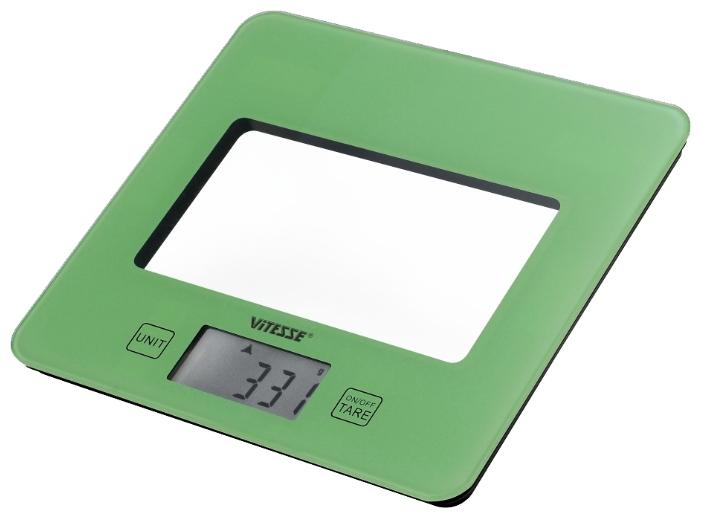 Кухонные весы Vitesse VS-615, зеленые VS-615GRN