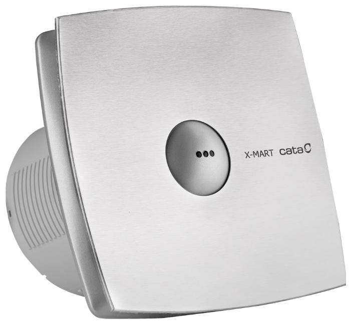 Вентилятор CATA X-Mart 12 Matic inox timer, серебристый
