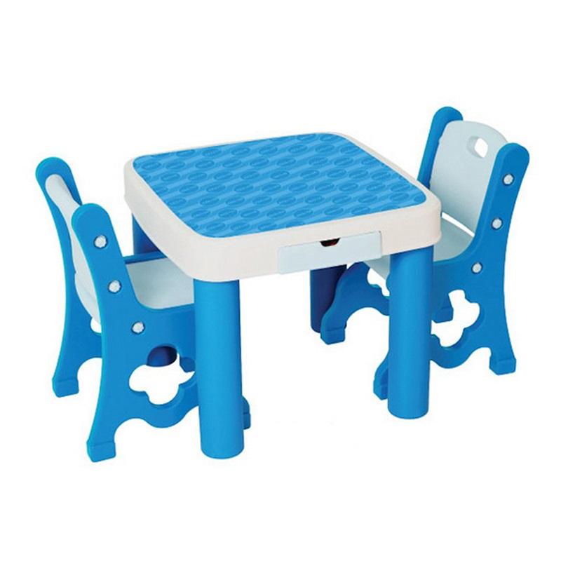 Стол со стульями Edu-play голубой