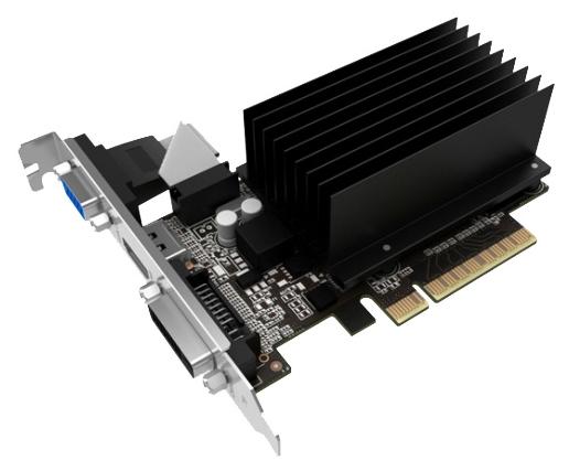 ���������� GeForce Palit GeForce GT 730 902Mhz PCI-E 2.0 1024Mb 1804Mhz 64 bit DVI HDMI HDCP Silent NEAT7300HD06-2080H
