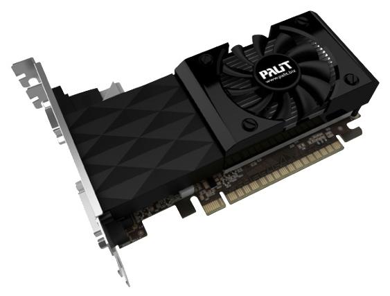 Видеокарта GeForce Palit GeForce GT 730 700Mhz PCI-E 2.0 2048Mb 1400Mhz 128 bit DVI HDMI HDCP NEAT7300HD41-1085F