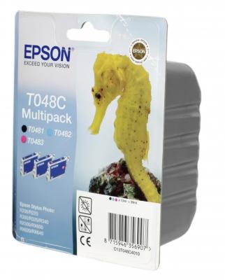 Картридж Epson T048C Multi Pack, чёрный, пурпурный, голубой C13T048C4010