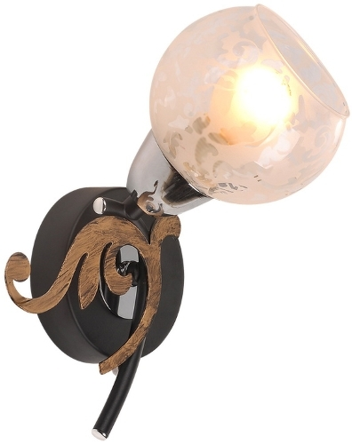 Светильник настенный IDLamp Бра Pearl 216-1A черный 216/1A-Blackchrome