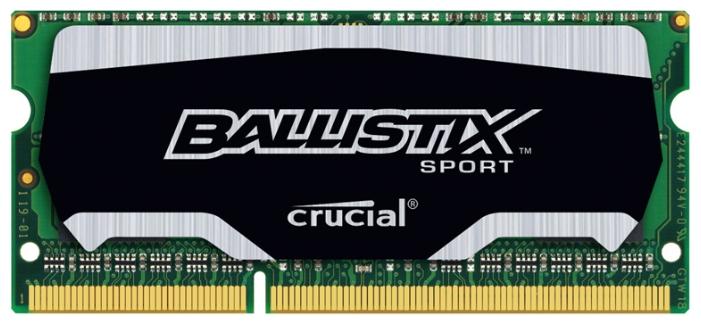 Модуль памяти BLS4G3N169ES4 Crucial BLS4G3N169ES4 (DDR3L 4096 Mb, 1600 МГц) BLS4G3N169ES4CEU