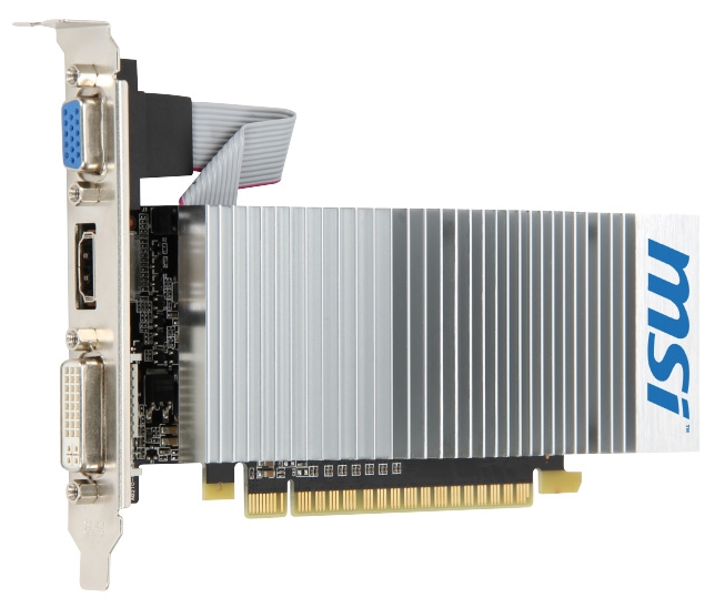 Видеокарта GeForce MSI GeForce 210 589Mhz PCI-E 2.0 512Mb 1000Mhz 64 bit DVI HDMI HDCP TurboCache N210-TC1GD3H/LP