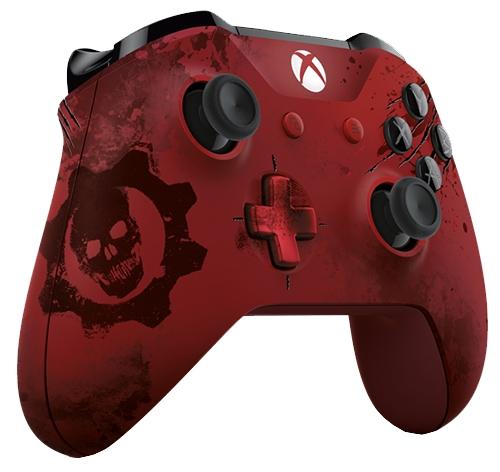 Геймпад MICROSOFT Xbox One Wireless Controller Gears of War 4 Crimson Omen, красный WL3-00003