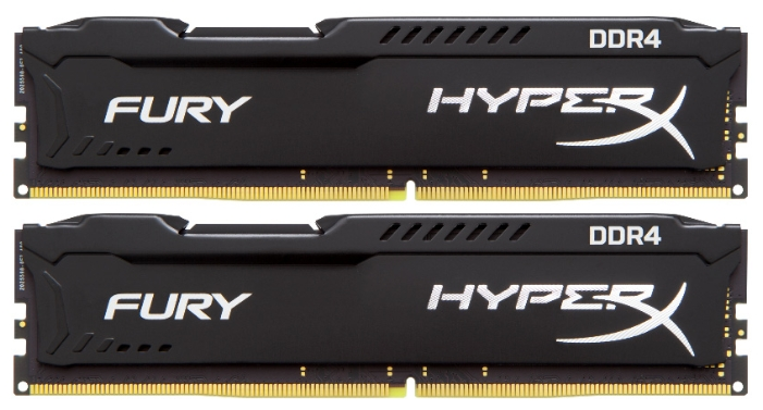 ������ ������ Kingston HX421C14FBK2/16 (HyperX Fury, DDR4, 8+8 Gb, 2133MHz, DIMM)