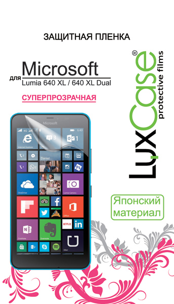 Защитная пленка LuxCase для Microsoft Lumia 640 XL / 640 XL Dual (Антибликовая), 158х81 мм
