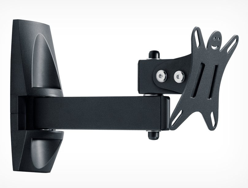 Кронштейн Holder LCDS-5004 (10-26'', 25 кг, настенный, наклон, поворот), графит