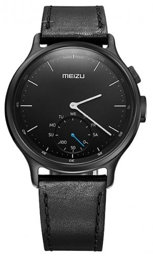 Умные часы Meizu Mix Leather MZWA1S, черные MBWA1S_LEATHER_BLACK