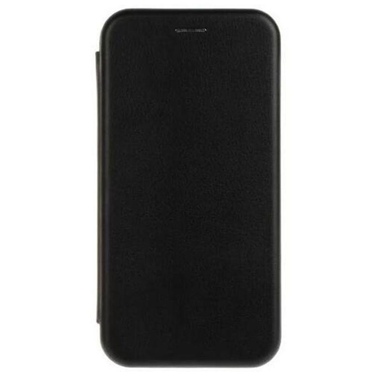 Fashion Case для Samsung S7, с визитницей, натуральная кожа, чёрный