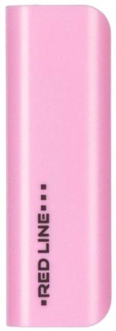 Аксессуар для телефона Red-Line Внешний аккумулятор R-3000 (3000 mAh), pink R-3000 РОЗОВЫЙ