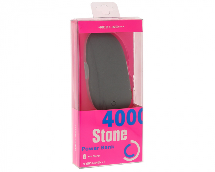 Аксессуар для телефона Red-Line Внешний аккумулятор R-4000 (4000 mAh), серый камень R-4000 СЕРЫЙ КАМЕНЬ