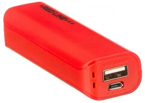 Аксессуар для телефона Red-Line Внешний аккумулятор R-3000 (3000 mAh), красный R-3000 КРАСНЫЙ