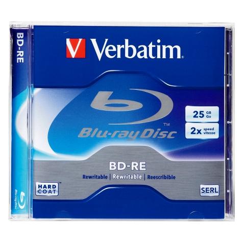 Оптический диск Verbatim BD-RE, 25Gb, 2x, Jewel (43614)