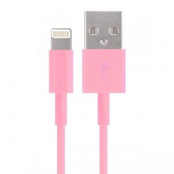 Зарядное устройство Дата-кабель Smartbuy USB - 8-pin для Apple, цветные, длина 1,2 м, розовый (iK-512c pink)/500