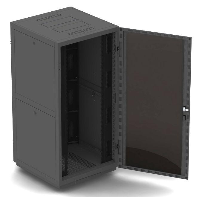 """Телекоммуникационный шкаф Business 2 MG42-810 B (42U, 19"""", 800х1000, напольный), чёрный NT BUSINESS 2 MG42-810 В"""
