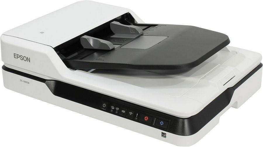 Сканер Epson WorkForce DS-1660W (CIS, A4, планшетный, протяжной) B11B244401BY