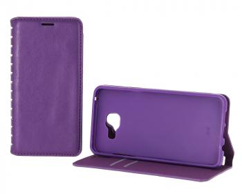 Case-New Book для Samsung Galaxy J7 (2016) с визитницей фиолетовый