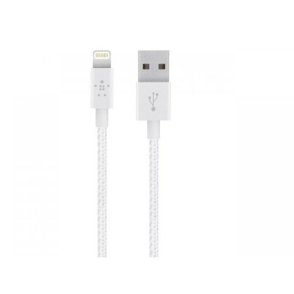 Belkin Lightning-USB для Apple Mixit Metallic белый 1.2м