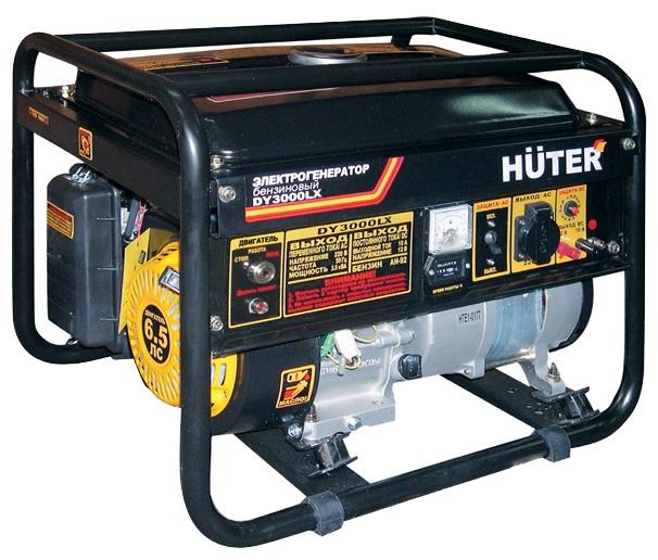 Электрогенератор Бензиновый генератор HUTER DY3000LX, 220, 2.5 кВт 64/1/10
