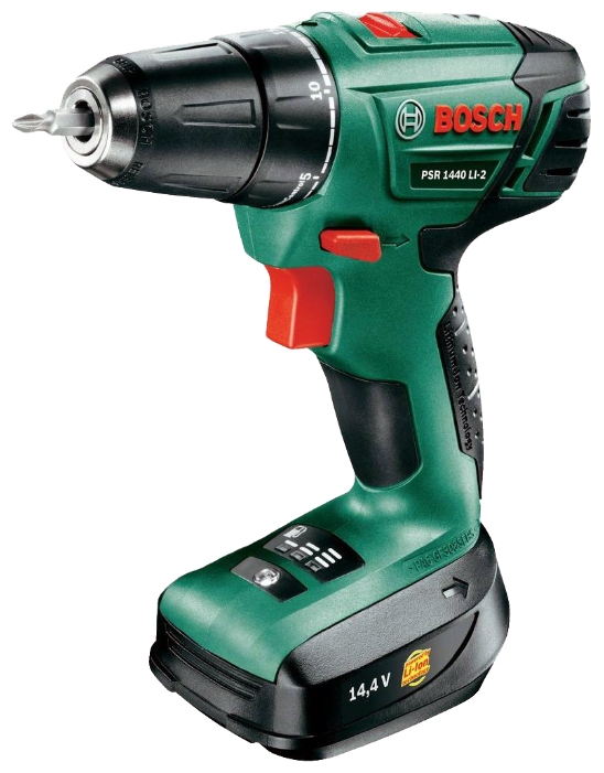 Дрель Bosch PSR 1440 LI-2 1.5Ah x2 Case [06039a3021]