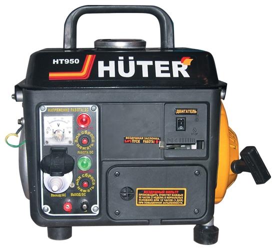Электрогенератор Бензиновый генератор HUTER HT950A, 220, 0.65кВт [ht950a ] 64/1/1