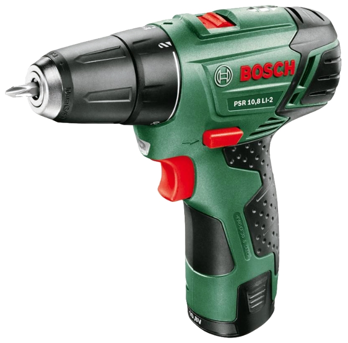 Дрель Bosch PSR 10.8 LI-2, 2.0Ah x1, Case [0603972925]
