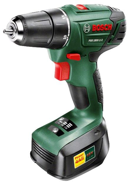 ����� Bosch PSR 1800 LI-2 1.5Ah x2 Case, 0.603.9a3.121 06039A3121