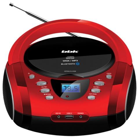 Магнитола BBK BX165BT, черно-красная BX165BT BLACK/RED