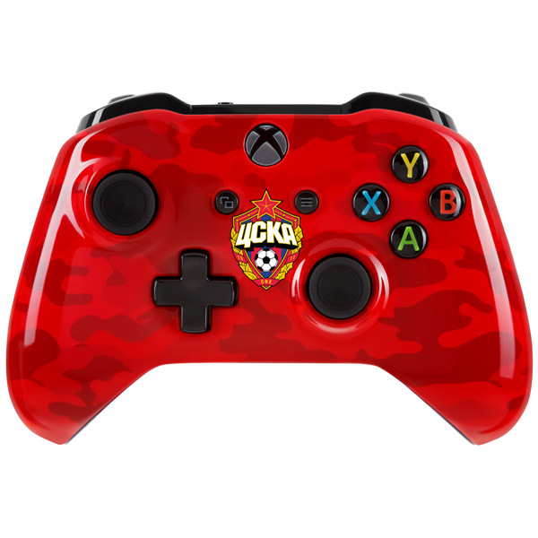 Геймпад MICROSOFT Xbox One 6CL-00002 ЦСКА Красно-армейский, красный/синий