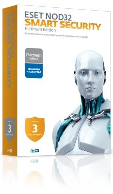 Программа-антивирус ESET NOD32 Smart Security Platinum Edition (на 3 ПК) NOD32-ESS-NS(BOX)-2-1