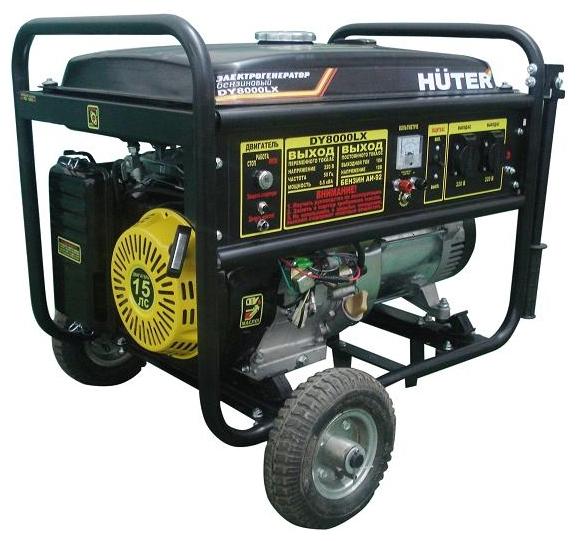 Электрогенератор Бензиновый генератор HUTER DY8000LX, 220, 6.5кВт 64/1/19