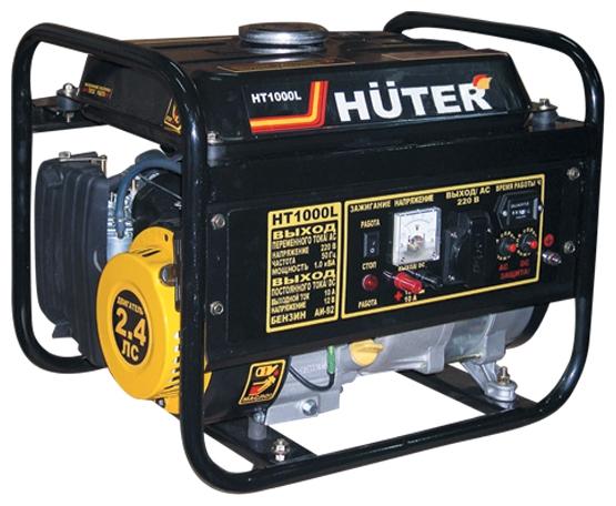 Электрогенератор Бензиновый генератор HUTER HT1000L, 220В, 1кВт [ht1000l] 64/1/2