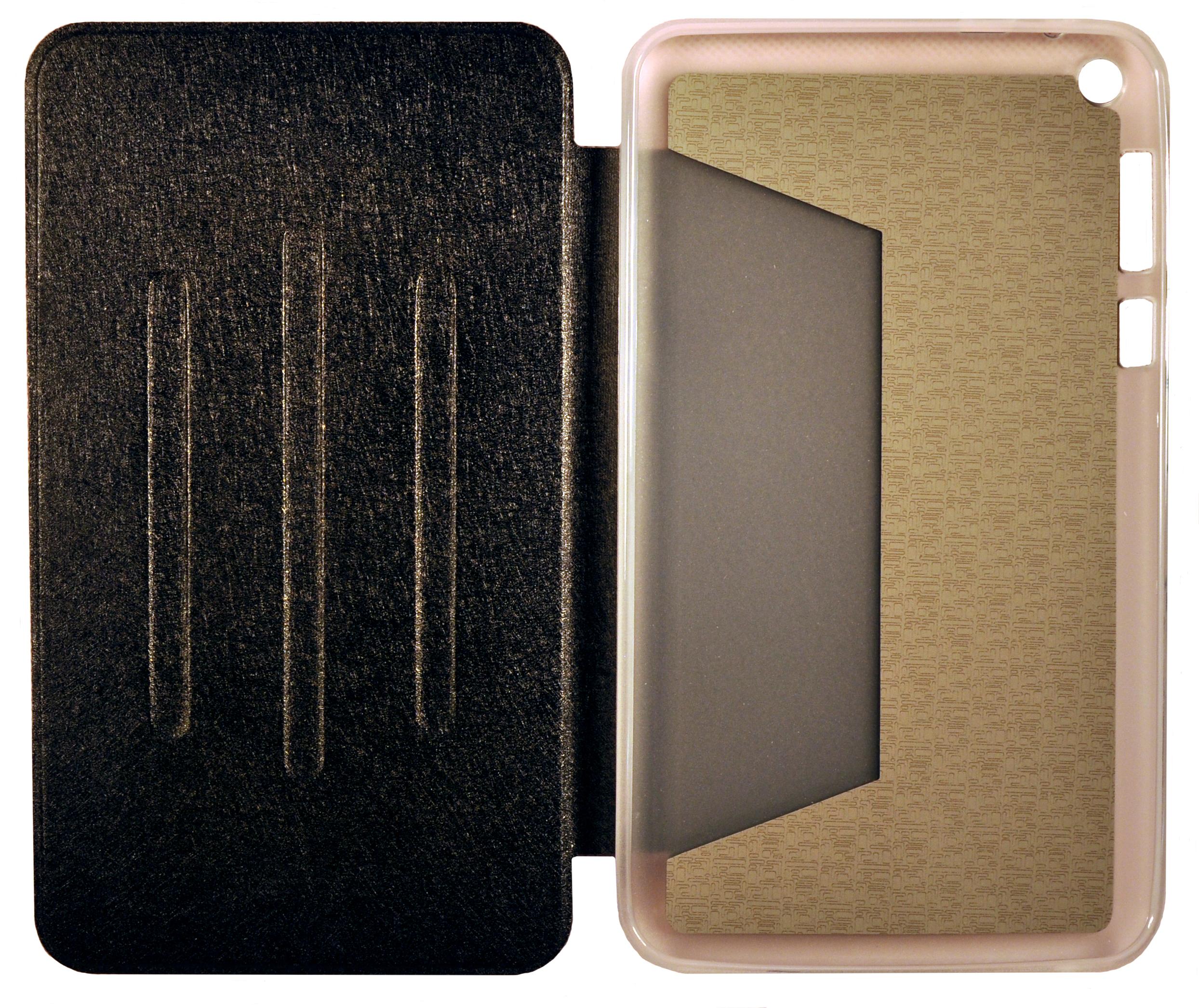 noname Чехол футляр-книга Book Cover для ASUS Fonepad 8 FE380CG с силиконовым основанием без логотипа (чёрный)