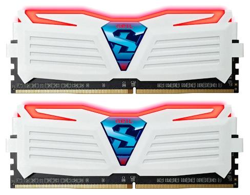 Модуль памяти Geil GLWR432GB2400C16DC (DDR4 32 Gb, 2400 MHz, White/Red)