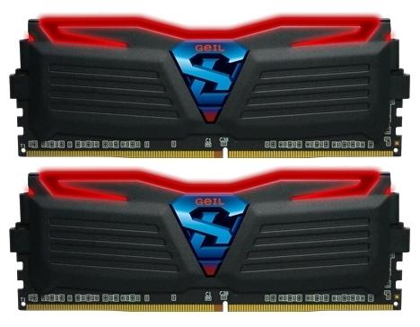 Модуль памяти Geil GLR432GB2400C16DC (DDR4 32Gb, 2400 MHz, 2x16 Gb, Black/Red)