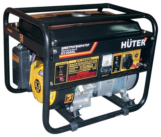 Электрогенератор Бензиновый генератор HUTER DY3000L, 220, 2.5кВт [dy3000l ] 64/1/4