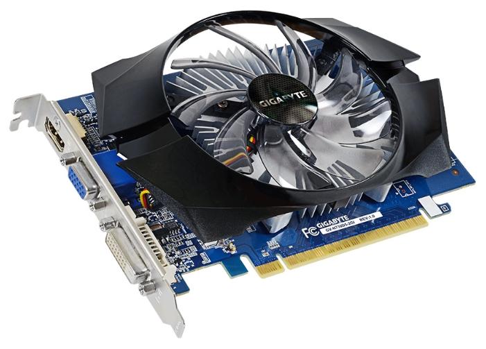 Видеокарта GeForce GigaByte GeForce GT 730 902Mhz PCI-E 2.0 2048Mb 5000Mhz 64 bit DVI HDMI HDCP (GV-N730D5-2GI)