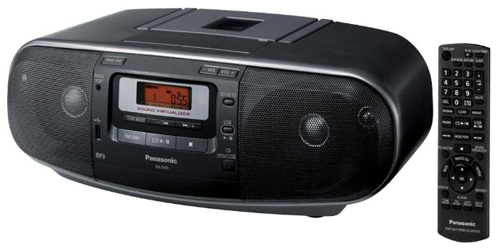 ��������� Panasonic RX-D55EE-K (������, 20W, CD, USB, ����� ��)