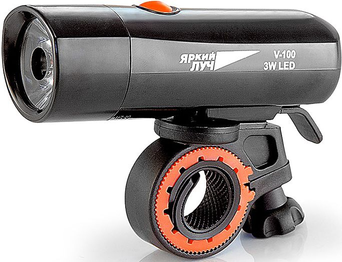 Велофонарь YArkiy-Luch V-100, черный 4606400615422