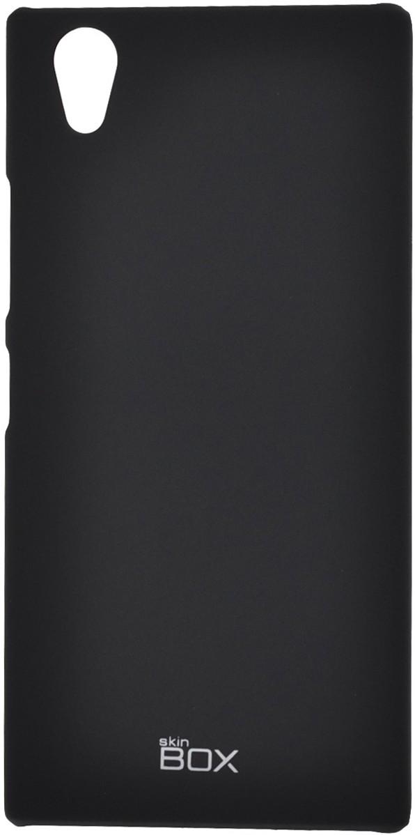 Накладка для Lenovo P70 Skinbox. Серия 4People. Защитная пленка в комплекте. (Цвет-черный), T-S-LP70