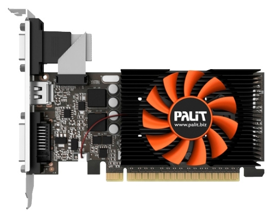 Видеокарта GeForce Palit GeForce GT 730 902Mhz PCI-E 2.0 1024Mb 5000Mhz 64 bit DVI HDMI HDCP (NE5T7300HD06-2081F)