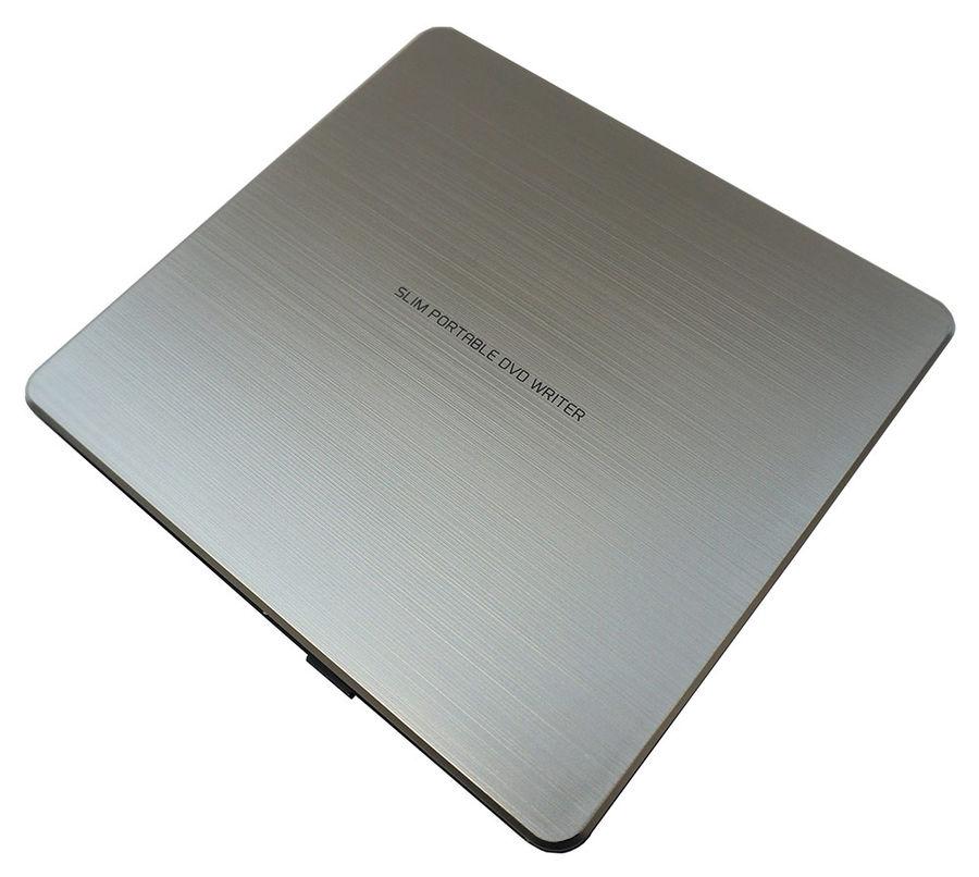 Оптический привод LG GP60NS60 (DVD±RW DL, внешний, Slim, Retail), серебристый