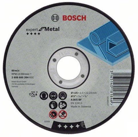 Диск отрезной Bosch 2.608.600.394, 125x22.23x2.5 мм, по металлу 2608600394