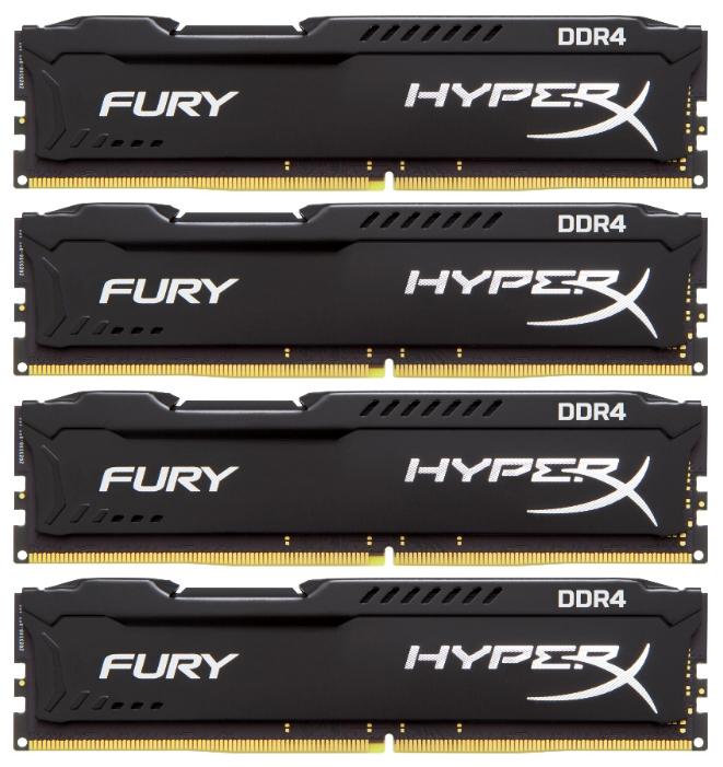 ������ ������ Kingston HX426C15FBK4/16 (DDR4, 4x4Gb, 2666MHz, CL15-17-17, DIMM) HyperX Fury